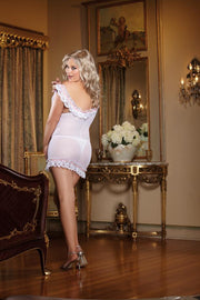 Stretch Mesh With Spandex Off The Shoulder Chemise