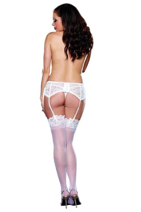 Lace Garter Belt with Scalloped Hem