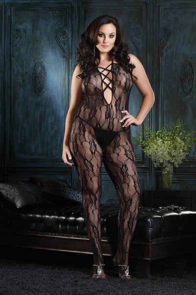 Rose Lace Bodystocking  | BigSmalls™