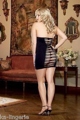 Seamless Slashed Halter Dress