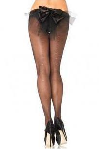 Sheer Pantyhose with Rhinestone Backseam  | BigSmalls™