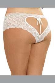 Plus Size Open Crotch Heart Back Panty