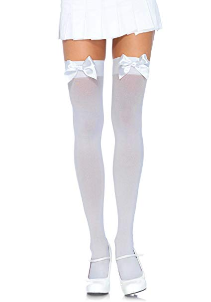 Hold Up Stockings With Satin Bow