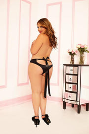 Open back Panty with Ribbon Ties and Satin Ribbon Entanglement Tie