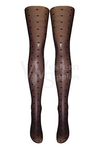 Sheer Mini Hearts Tights  | BigSmalls™