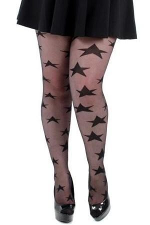 All Over Stars Sheer Tights  | BigSmalls™