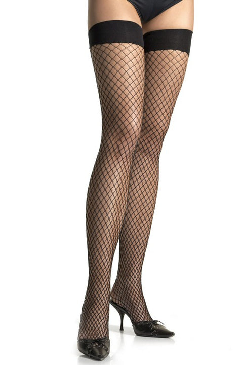 Plus Size Industrial Net Thigh Highs