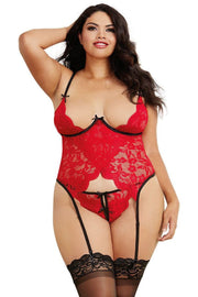 Plus Size Stretch Galloon Lace Bustier