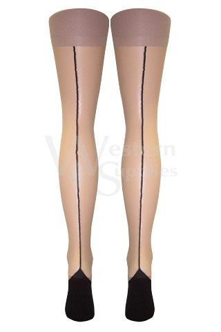 Stiletto Heel Seamed Stockings  | BigSmalls™