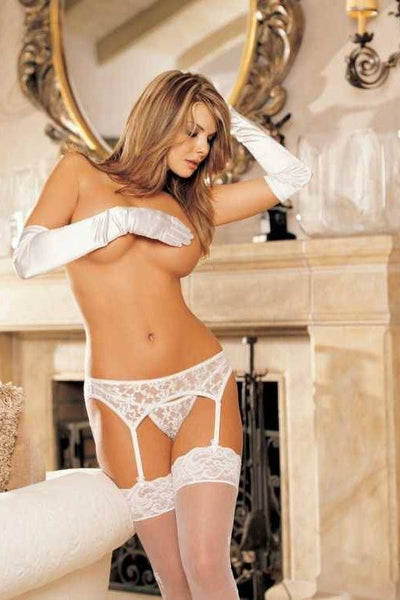 Lace Garterbelt And G-String Set   | BigSmalls™