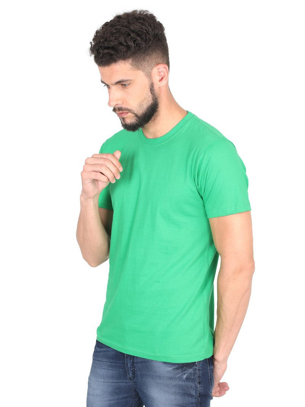 Flag Green Plain Round Neck T-Shirt