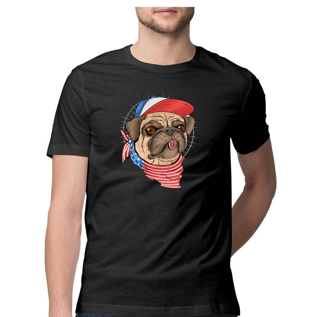 Cute Dog Swag Round Neck T-Shirt - Mister Fab