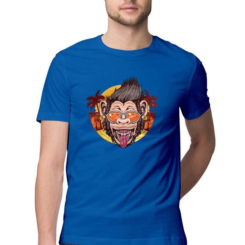 Cool Chimpanzee Round Neck T-Shirt - Mister Fab