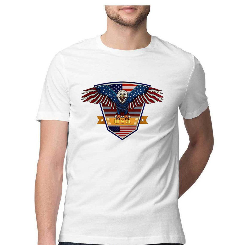 USA Eagle Round Neck T-Shirt - Mister Fab