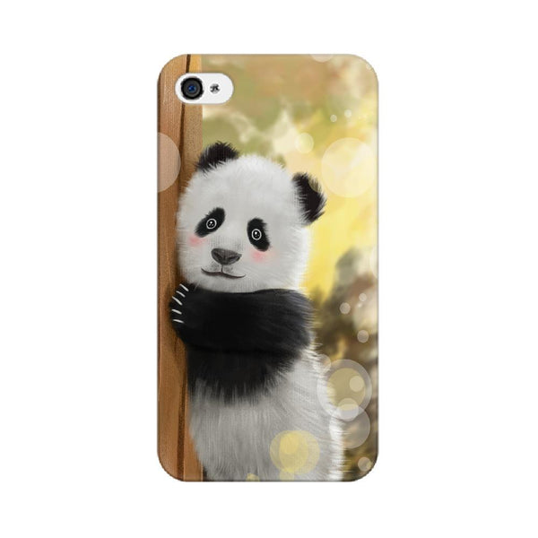 Cute Innocent Panda Apple Mobile Phone Cover - Mister Fab