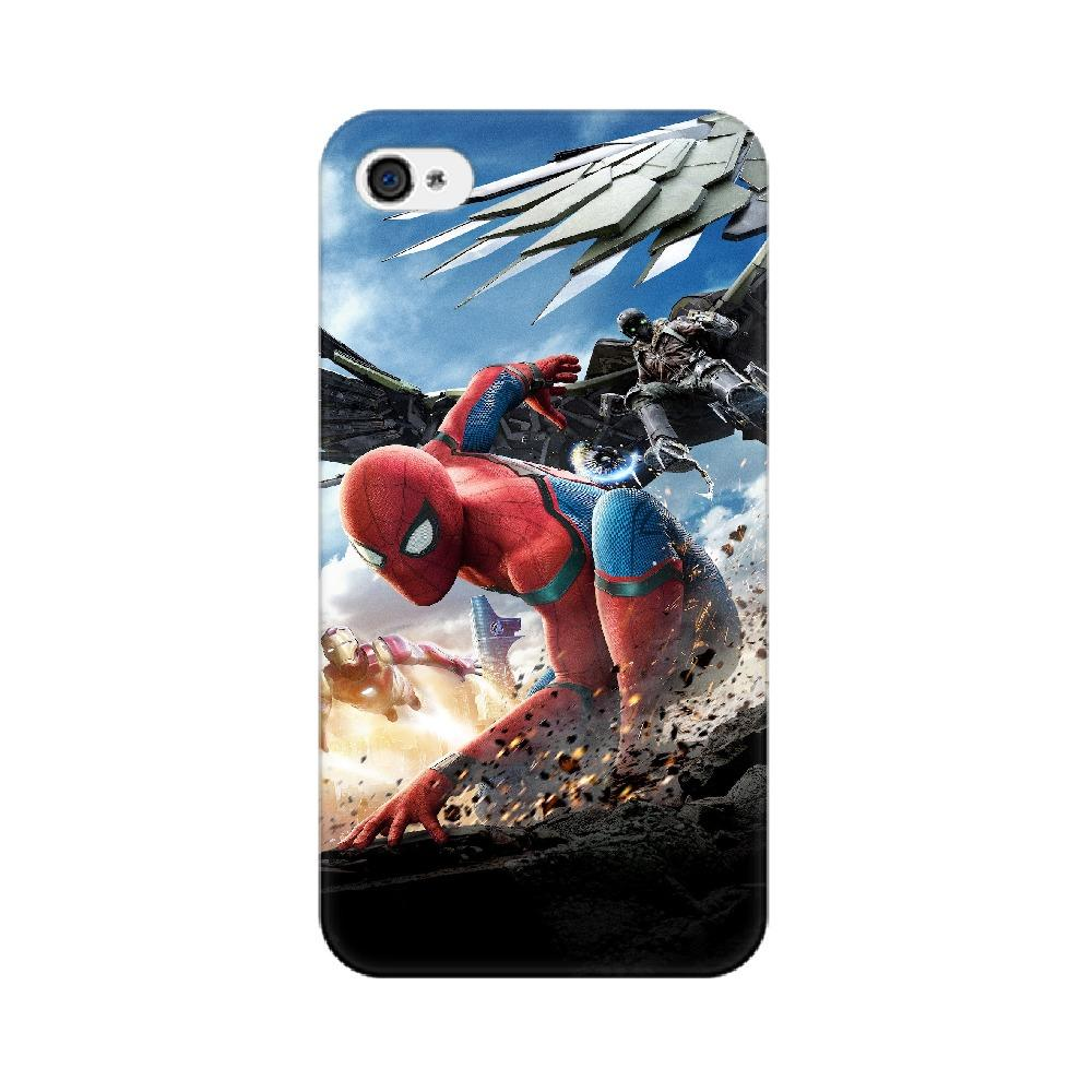 Spider-Man Iron Man Apple Mobile Phone Cover - Mister Fab