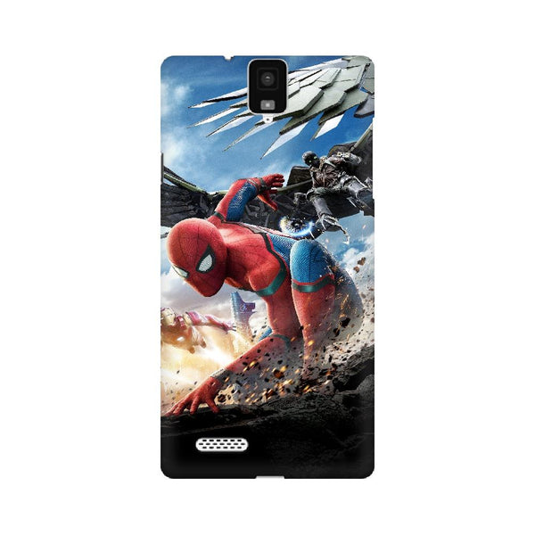 Spider-Man Iron Man Infocus Mobile Phone Cover - Mister Fab