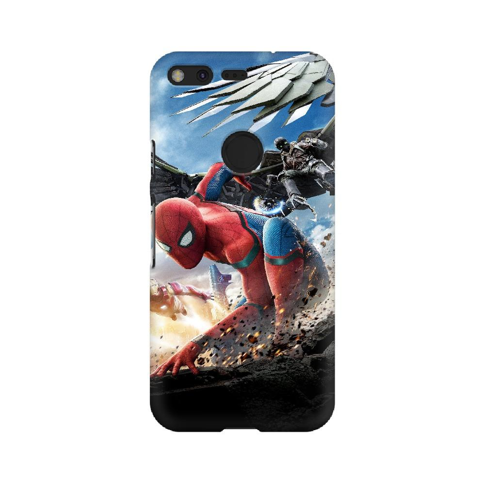 Spider-Man Iron Man Google Mobile Phone Cover - Mister Fab