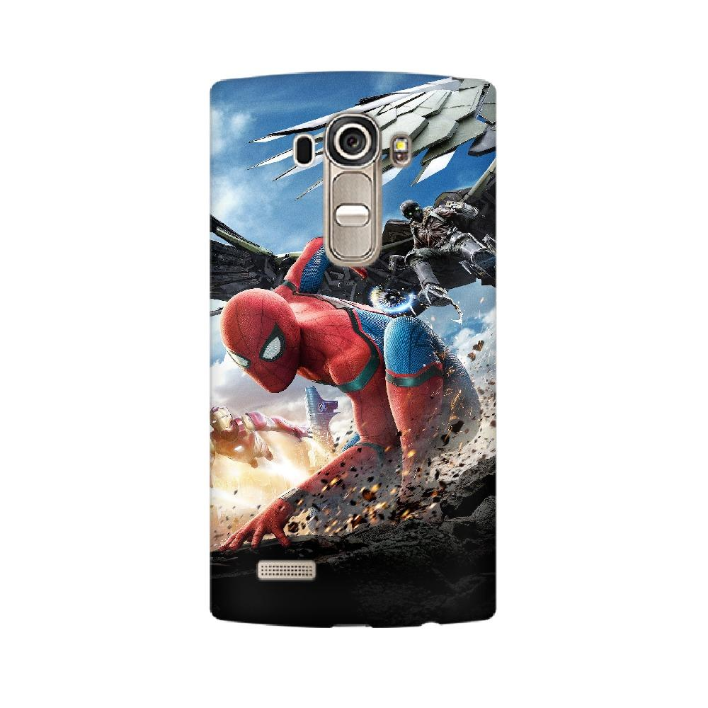 Spider-Man Iron Man LG Mobile Phone Cover - Mister Fab