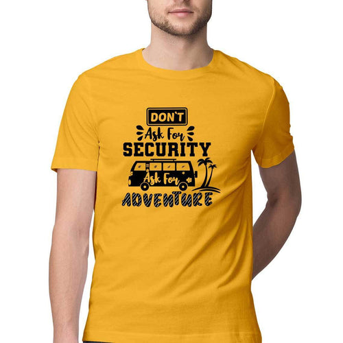 Ask for Adventure Round Neck T-shirt - Mister Fab