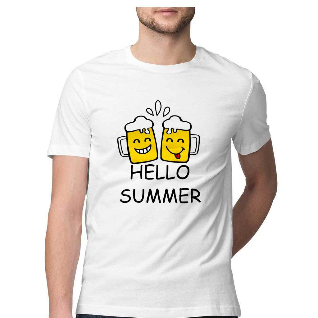 Hello Summer Round Neck T-shirt - Mister Fab