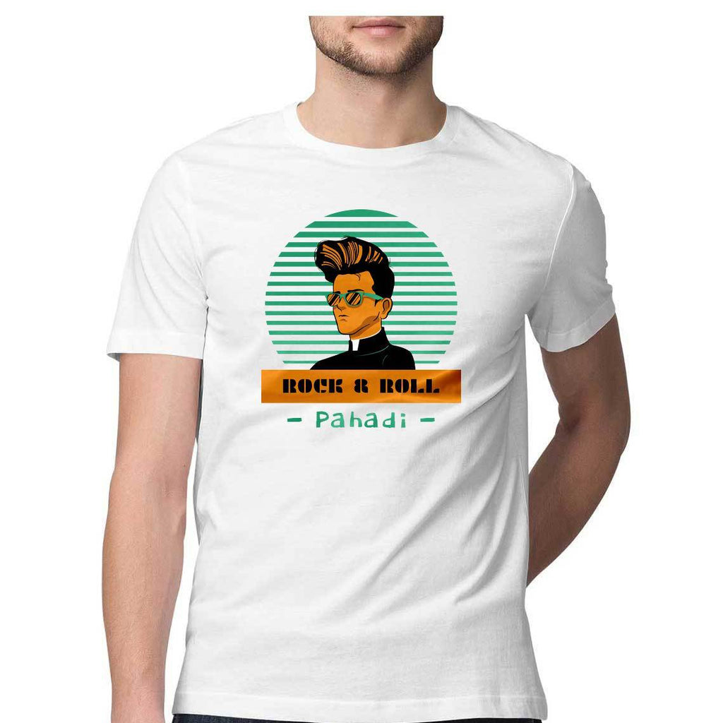 Rock and Roll Pahadi Unisex T-Shirts - Mister Fab