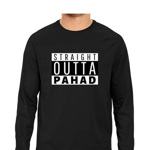 Straight Outta Pahad Long Sleeve T-shirt - Mister Fab