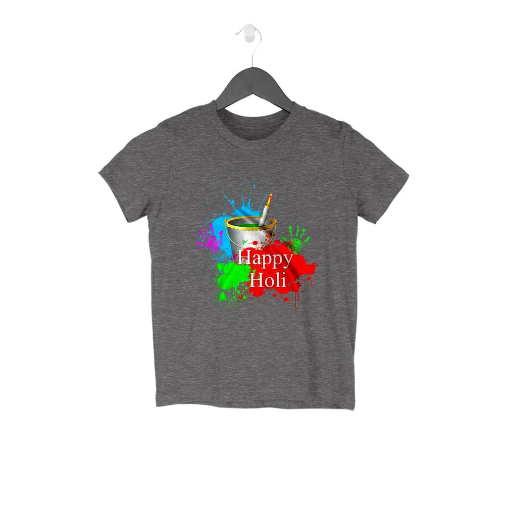 Happy Holi With Colourful Hand Kids Tshirt - Mister Fab