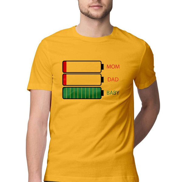 Mobile Battery Status Round Neck T-Shirt - Mister Fab