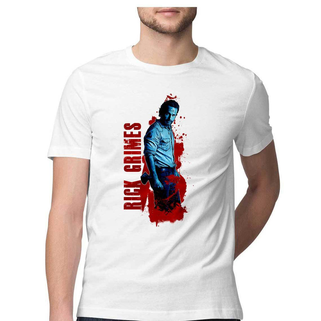 Rick Grimes Round Neck T-Shirt - Mister Fab