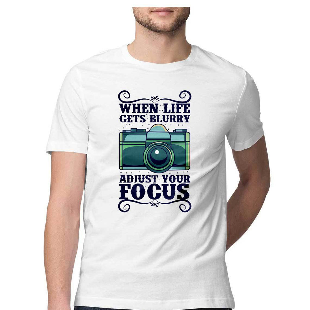When Life Gets Blurry Round Neck T-Shirt - Mister Fab