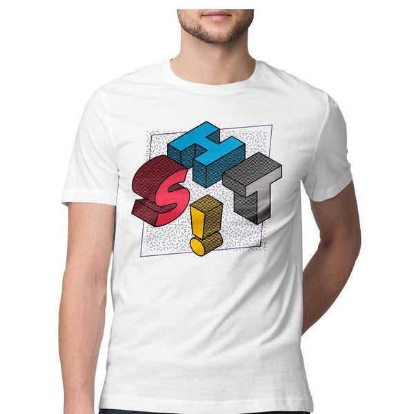 Shit Round Neck T-Shirt - Mister Fab