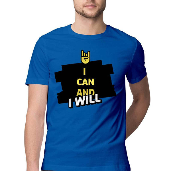 I Can and I Will Round Neck T-Shirt - Mister Fab
