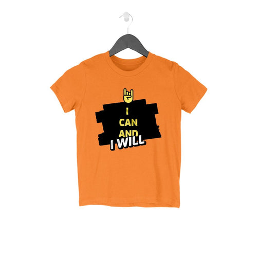 I Can and I Will Kids Round Neck T-Shirt - Mister Fab