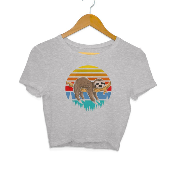 Lazy Sloth Crop Top - Mister Fab