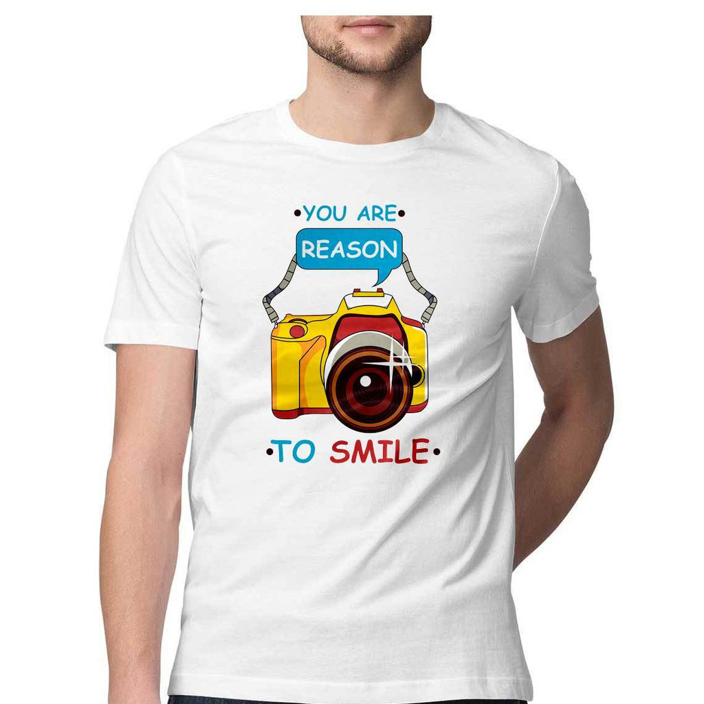 You Are Reason To Smile Round Neck T-Shirt - Mister Fab