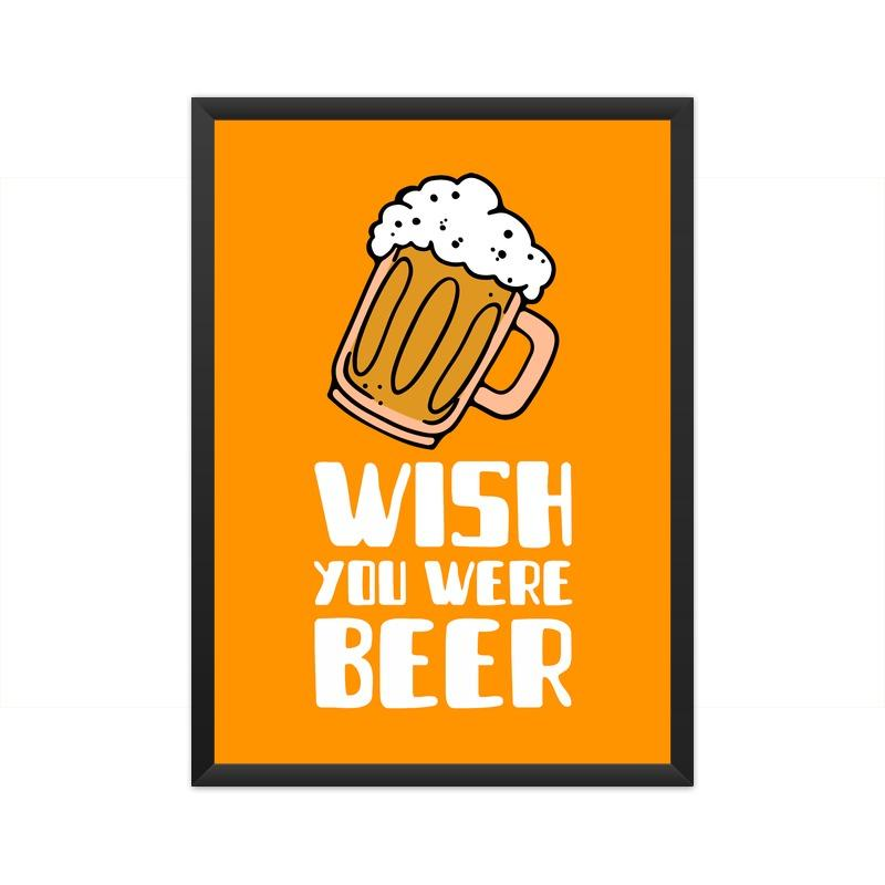 Wish You Were Beer Poster - Mister Fab