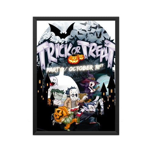 Trick or Treat Halloween Poster - Mister Fab