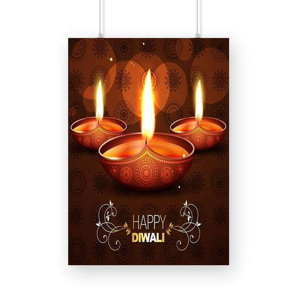 Beautiful Happy Diwali Poster - Mister Fab