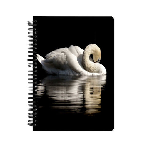 Beautiful Swan Wiro Bound Notebook by Mister Fab - Mister Fab