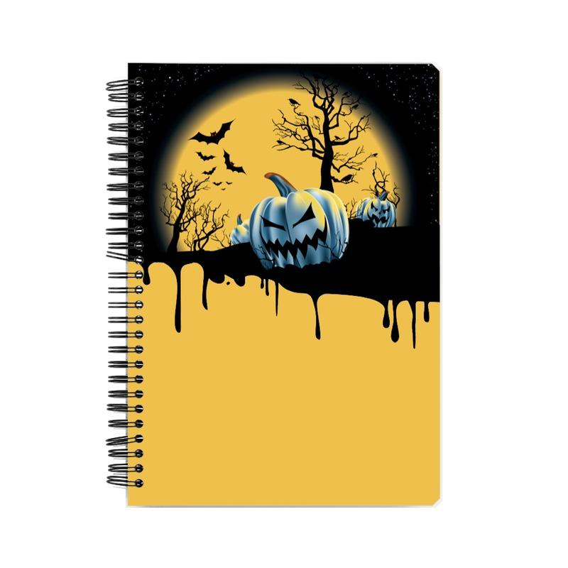 Pumpkin Wiro Bound Notebook by Mister Fab - Mister Fab