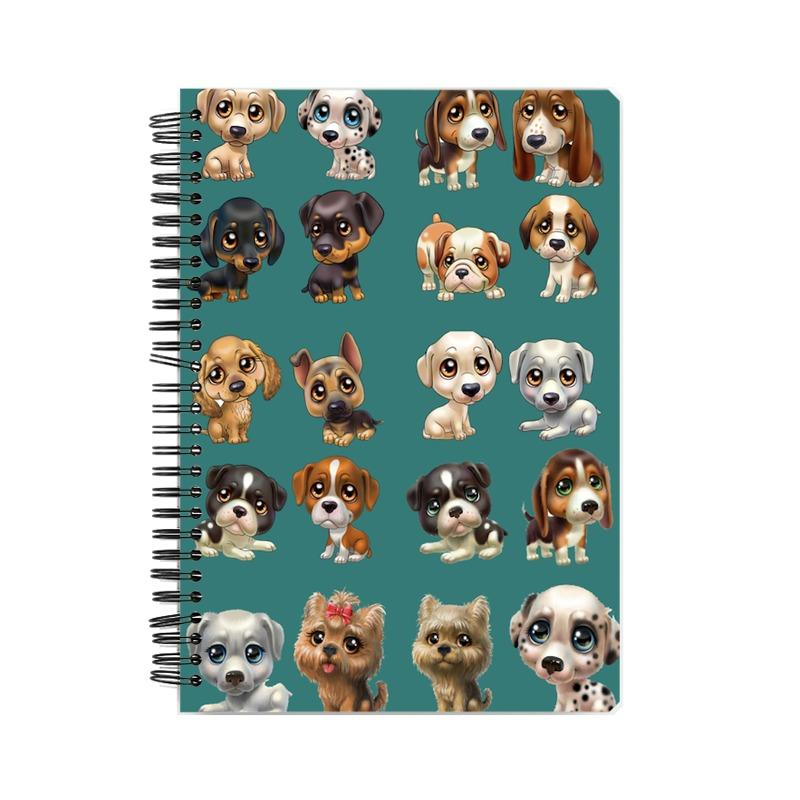 Cute Puppy Wiro Bound Notebook by Mister Fab - Mister Fab
