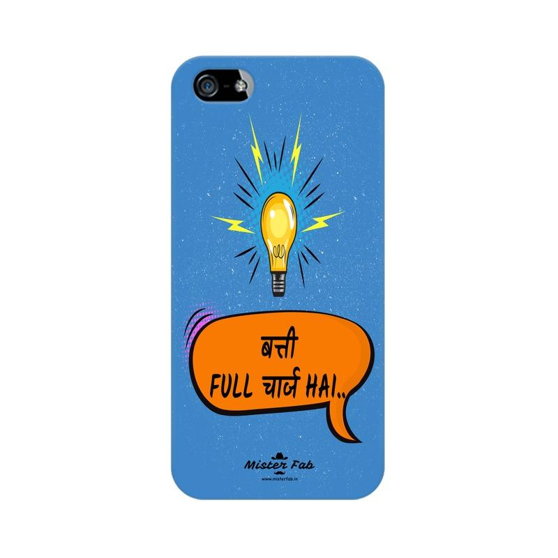 Batti Full Charge Hai Apple iPhone 5s Mobile Cover - Mister Fab
