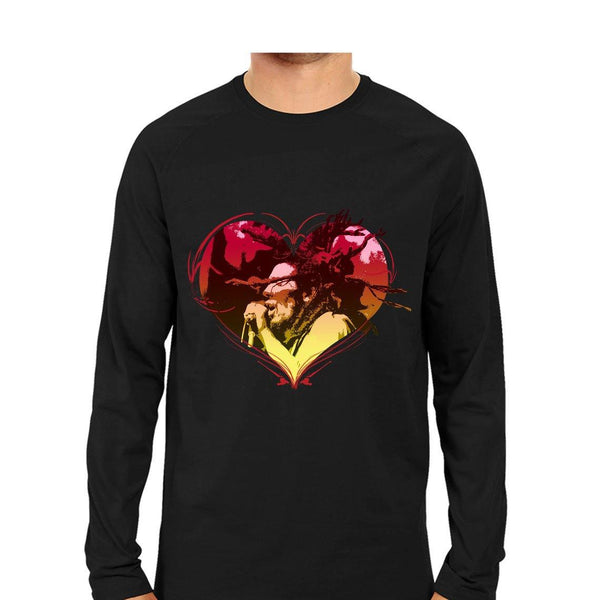 Bob Marley Music Men Round Neck Long Sleeve printed T-Shirts - Mister Fab