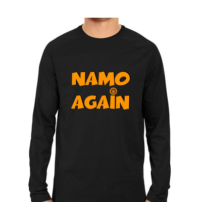 Namo Again Men Round Neck Long Sleeve T-Shirts - Mister Fab