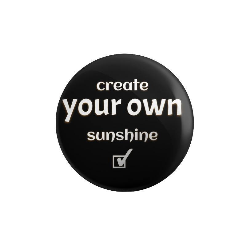 Create Your Own Sun Shine Button Badge - Mister Fab