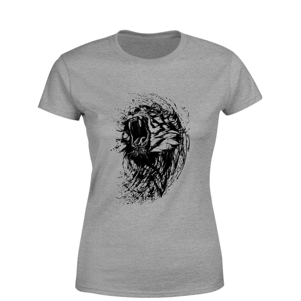 Roaring Tiger Women Round Neck printed T-Shirts - Mister Fab