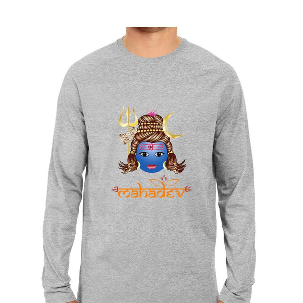 Mahadev Men Round Neck Long Sleeve printed T-Shirts - Mister Fab