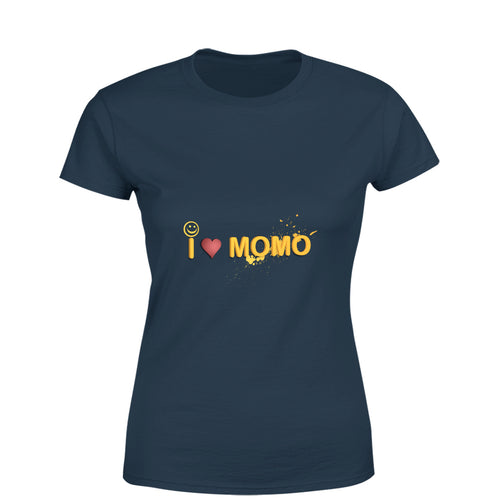Mister Fab I Love Momo Women Round Neck printed T-Shirts - Mister Fab