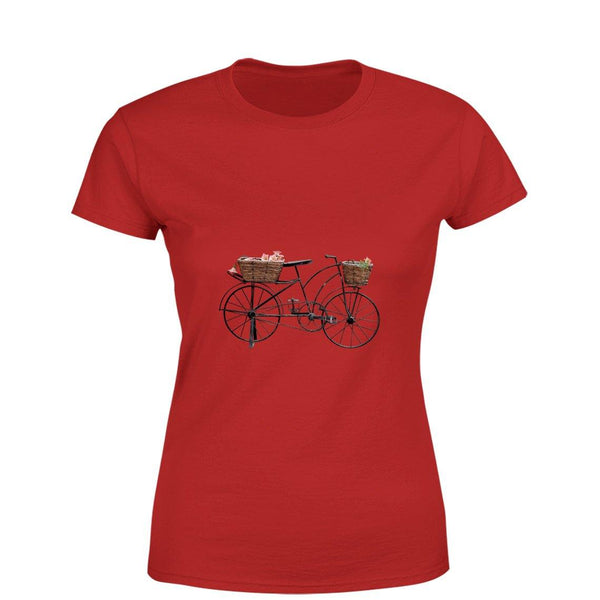 Mister Fab Beautiful Cycle Women Round Neck printed T-Shirts - Mister Fab